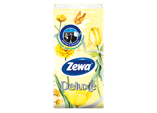Zewa Deluxe Hanky Design 1 x 10 yellow