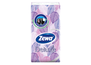 Zewa Deluxe Hanky Design 1 x 10 purple