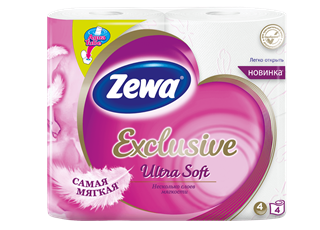 Zewa Exclusive Ultra Soft 4 rolls toilet paper