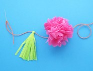 diy garden decoration pom pom garland 08